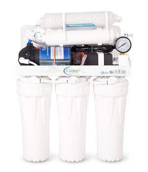 Six stage reverse osmosis water filtration system