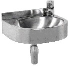 Oval A Stainless Steel Wall-Mounted Drinking Fountain